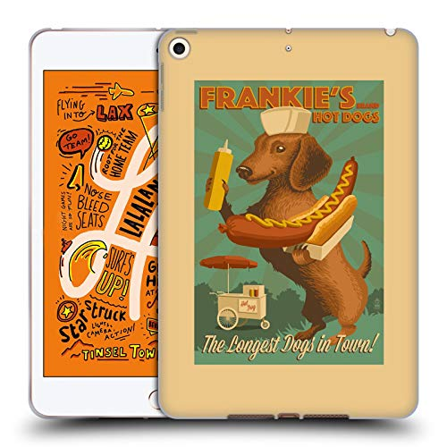 Official Lantern Press Frankie's Dog Collection Soft Gel Case Compatible for iPad Mini (2019)