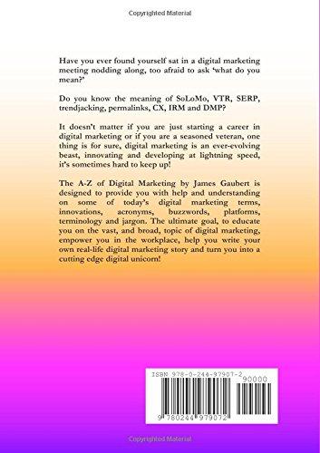 The A-Z of Digital Marketing: James Gaubert: 9780244979072