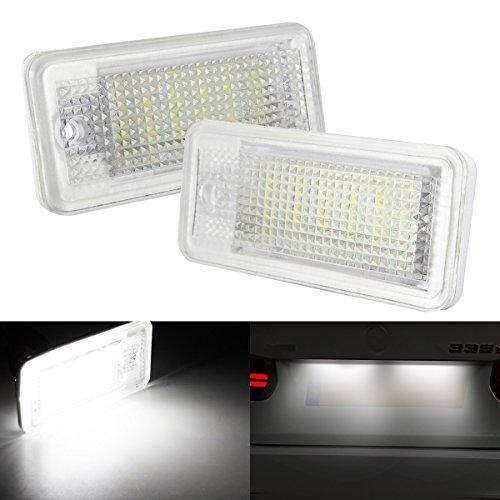 AMBOTHER 2x LED Kennzeichenbeleuchtung Nummernschildbeleuchtung Kennzeichen Licht für Audi A3 8P - A6 4F - Q7