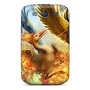 Hot WLesf1839ZdLDK Case Cover Protector For Galaxy S3- Zapdos Articuno Moltres by supermalls