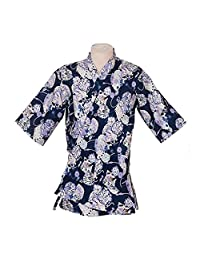 Japanese Working Clothes Chef Coat Jacket Kimono Sushi Restaurant Bar Hospitality Uniforms, #02