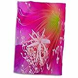 3dRose Danita Delimont - Orchids - Orchid cactus flower, Epiphyllum ackermannii - NA01 BJA0132 - Jaynes Gallery - 15x22 Hand Towel (twl_83343_1)
