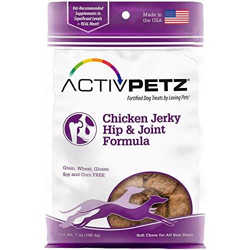 (Loving Pets Activpetz Chicken Jerky Hip & Joint Formula Dog Treat, 7 Oz)