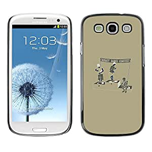 CASEX Cases / Samsung Galaxy S3 I9300 / Robot Dance Contest # / Delgado Negro Plástico caso cubierta Shell Armor Funda Case Cover Slim Armor Defender