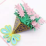 Pop Up Cards 3D | Handmade Greeting Card with Envelopes for All Occasions |Flower Cards for Thanksgiving Birthday Christmas Valent,Mother's Day gift,By Veizn (Flower Pop Up Cards 3D)