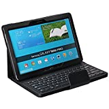 Portable Keyboard For amsung Galaxy Note PRO & Tab PRO 12.2 Case - Wireless Bluetooth Keyboard with Cover for Galaxy NotePRO & TabPRO 12.2 Android Tablet SM-T900 SM-P900 SM-P901 SM-P905 (Black)