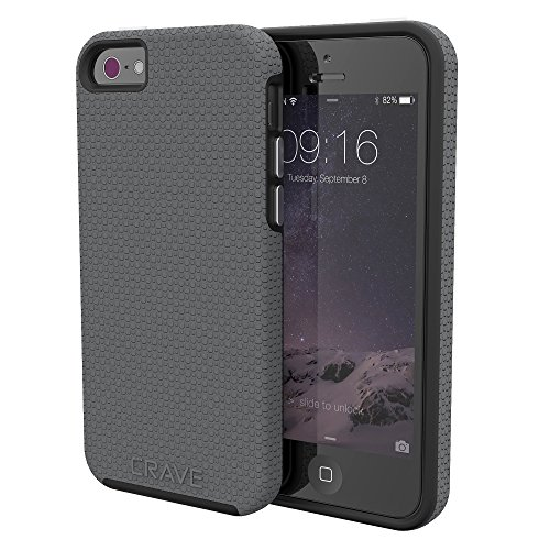 iPhone SE Case, Crave Dual Guard Protection Series Case for iPhone 5 / 5s / SE - Slate