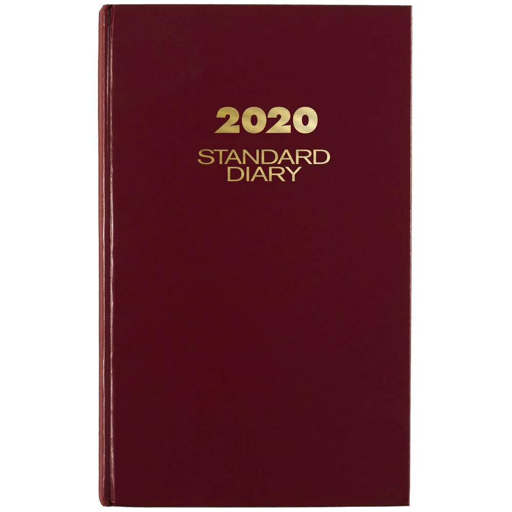 AT-A-GLANCE 2020 Daily Standard Diary, 8-3/16'' x 13-7/16'', Large, Red (SD38179)