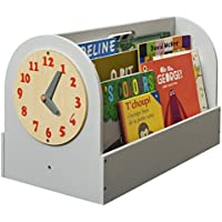 Tidy Books -The Original Kid's Book Box in Pale Grey - Book Storage and Book Display - Wooden Box for Kids Books - 13.8in L x 21.6in W x 12.2in D