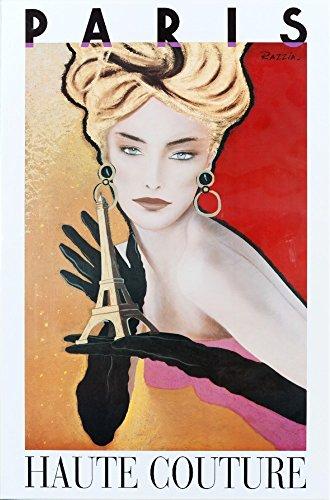 Paris - Haute Couture Vintage Poster (artist: Razzia) (9x12 Collectible Art Print, Wall Decor Travel (Vintage Haute Couture)