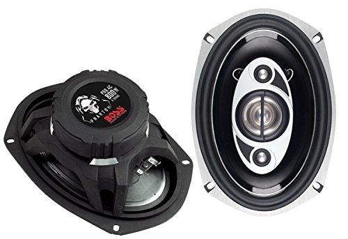 BOSS Audio P69.4C 800 Watt (Per Pair), 6 x 9 Inch, Full Range, 4 Way Car Speakers (Sold in (1980 Chevrolet Camaro A/c)
