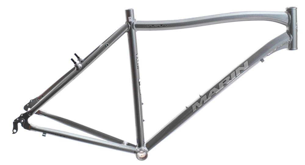 20.5'' MARIN SAUSALITO Road Commuter Bike Frame Alloy Grey 700c E3 Tubing NOS NEW