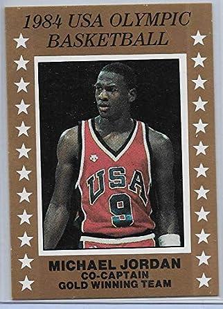 pretty nice 70940 e7495 Amazon.com: Michael Jordan 1984 USA Olympic Basketball Card ...