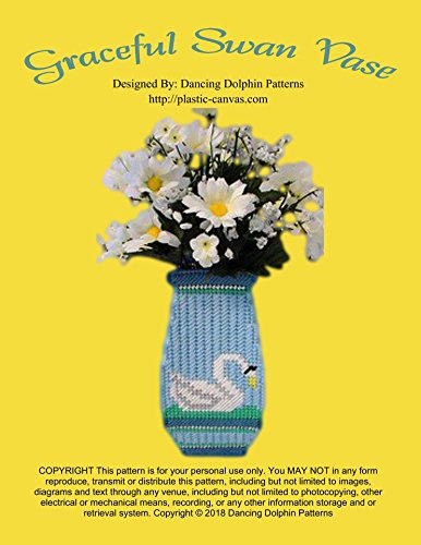 (Graceful Swan Vase: Plastic Canvas Pattern)