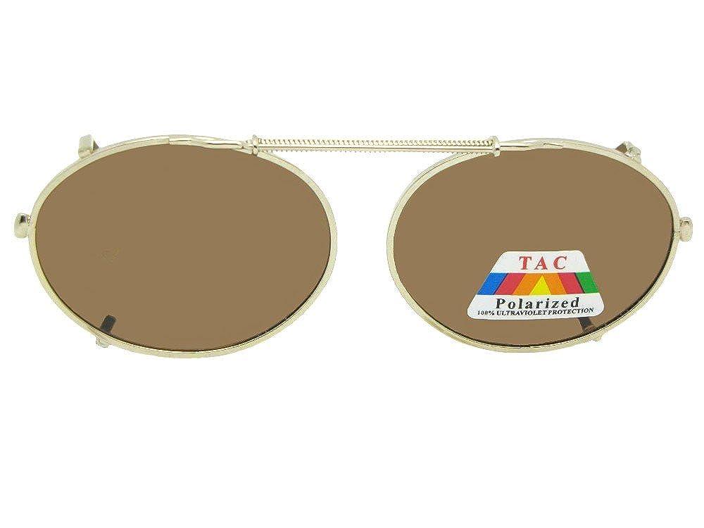 ed86935f94 Amazon.com  Oval Polarized Clip-on Sunglasses (Black Frame-Gray Lenses
