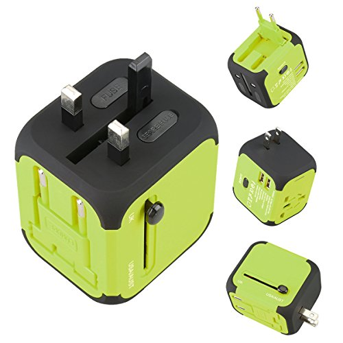 Price comparison product image Universal Travel Adapter Worldwide Travel Chargers Adapters Green