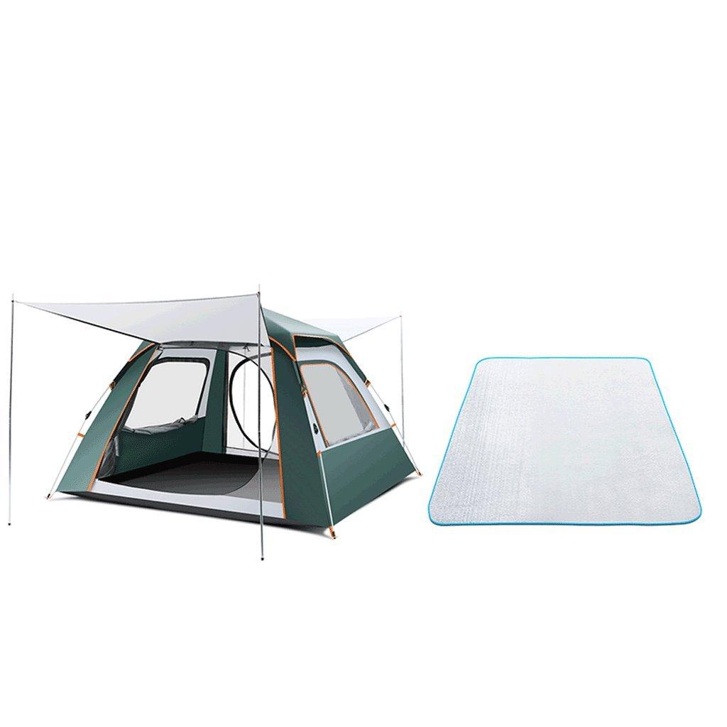TLMY Zelt im Freien 3-4 Leute vollautomatisches Zwei Schlafzimmer EIN doppelter doppelter Tourismusregen wildes Kampieren Zelte