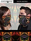 3 Pack Neck Gaiter Face Mask, Colorful Rasta