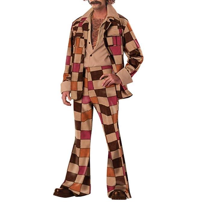B Baosity Traje de Ocio Disfraz Hippie Bailarina Hombre 60s ...