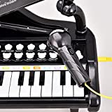 Kids-Piano-Keyboard-Toy-24-Keys-Black-Electronic-Educational-Musical-Instrument-with-Microphone