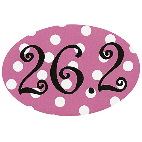 Automobile Car Magnet 26.2 Pink Polka - Custom Tri Suits Made