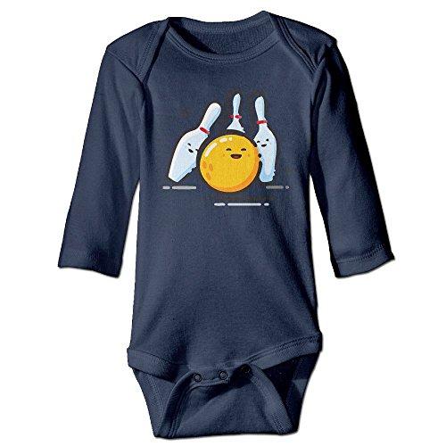 Hop Bowling Shirt - Ball Hop Bowling Cartoon Baby Girls' Clothes Long Sleeve Rompers Cotton Newborn Outfits Toddler Bodysuits