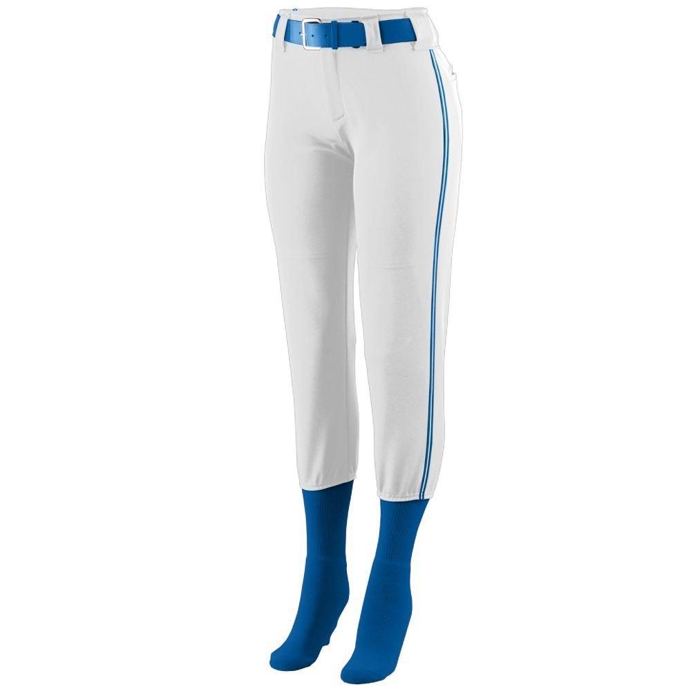Augusta Sportswear Girls ' Collegiate Low Riseソフトボールパンツ B00GK5Q1HA Medium|White/Royal/White White/Royal/White Medium