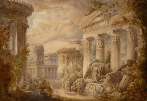 Oil Painting 'George Maddox,Temple Of The Graces,Orchomenus,1832' 12 x 17 inch / 30 x 44 cm , on High Definition HD canvas prints is for Gifts And Bed Room, Game - Outlets Hours Napa