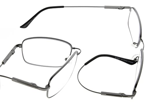 5a78f7a061 Eyekepper Lectores progresivos 3 niveles visión lentes multifocales anti UV  gafas de lectura de los hombres flexible marco de memoria (Gunmetal, ...