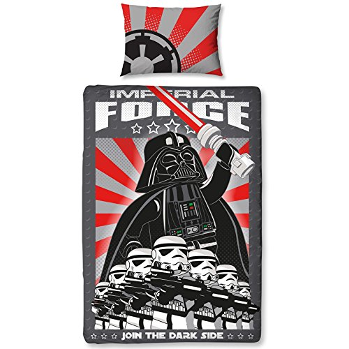Lego Star Wars Imperial Single Duvet Cover and Pillowcase Set