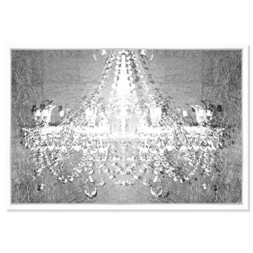 The Oliver Gal Artist Co. Dramatic Entrance Chrome Framed Abstract Wall Art, 36