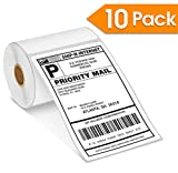 "10 Rolls - DYMO 1744907 Compatible Extra Large Shipping Labels (4'' X 6"") Compatible with DYMO Labelwriter 4XL ONLY"
