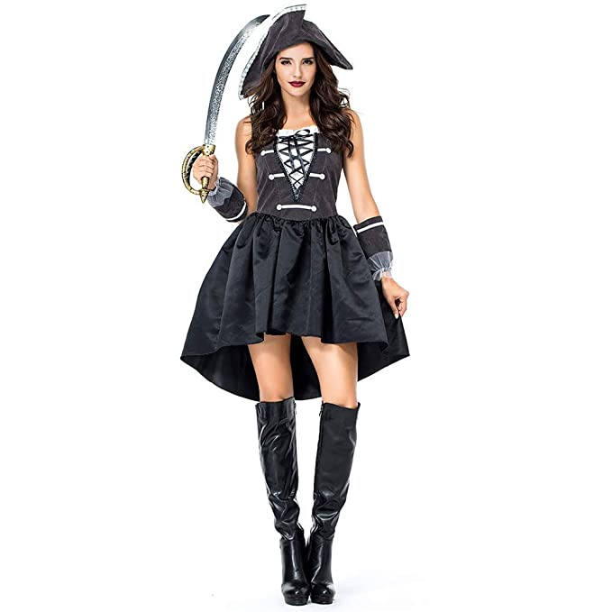 Amazon.com: H&ZY - Disfraz de mujer con uniforme pirata para ...