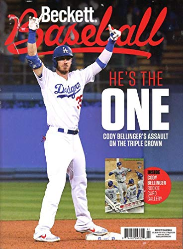 Beckett Baseball Monthly Price Guide Magazine August 2019 Dodger's Cody  Bellinger
