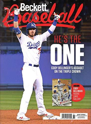 Beckett Baseball Monthly Price Guide Magazine August 2019 Dodger