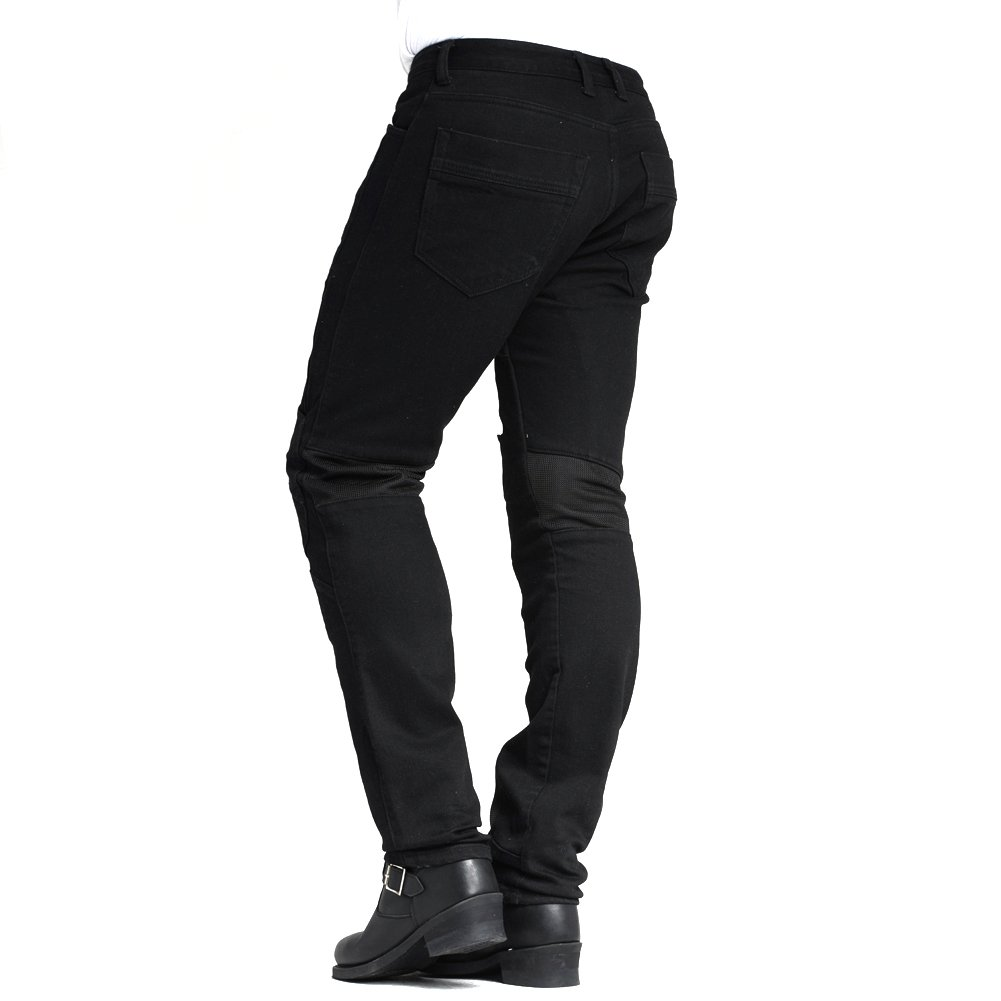 MAXLER JEAN Biker Jeans for men Motorcycle Motorbike riding kevlar Jeans 1614 for summer Black 32 by Maxlerjean (Image #3)