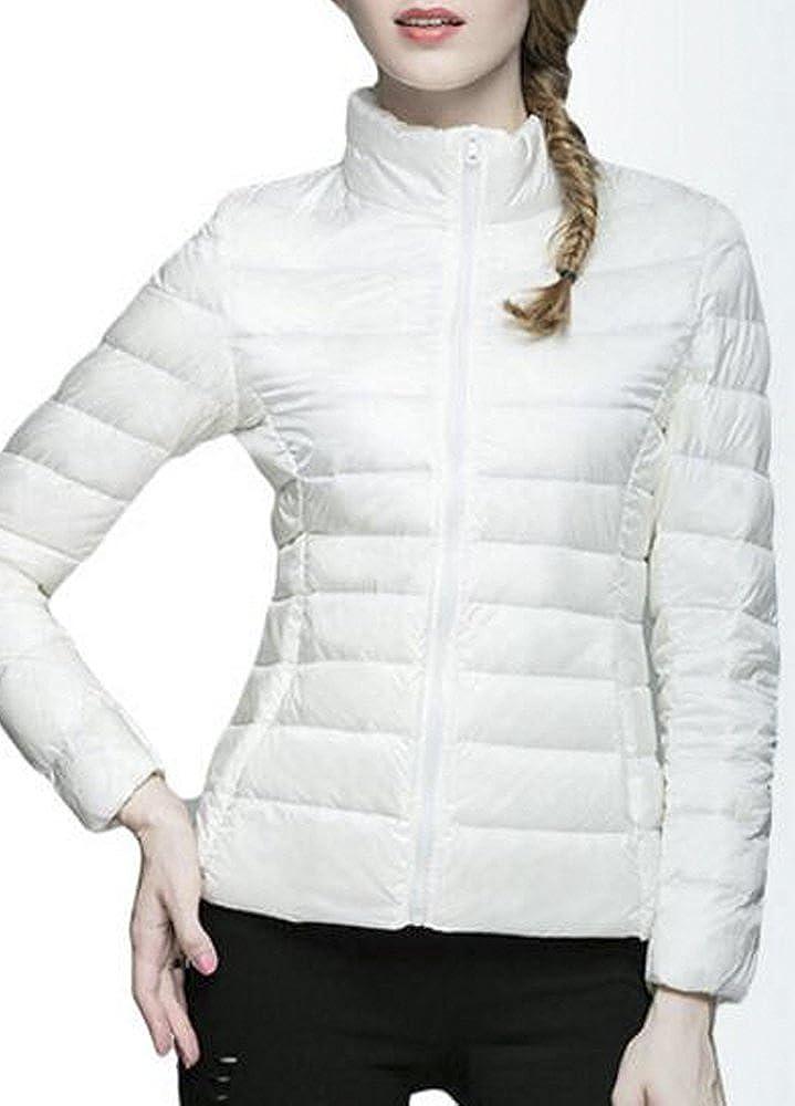 QZUnique Womens Light Weight Packable Short Down Jacket Outwear Puffer Coats