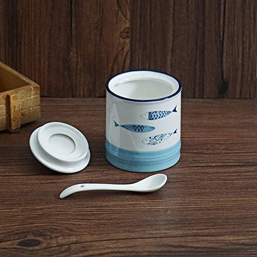 Zuckerdose mit Deckel aus Keramik mediterranes Design
