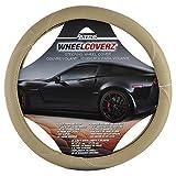 Alpena 10706 Beige Leather Steering Wheel Cover