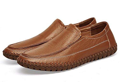 2017 zapatos de los hombres nuevos de cuero transpirable zapatos de gran tamaño cosidos a mano 5