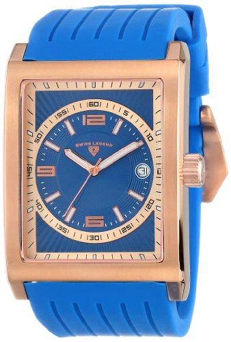 Swiss Legend Men's 40012-RG-03 Limousine Analog Display Swiss Quartz Blue Watch - Swiss Legend Rose Gold Tone Watch