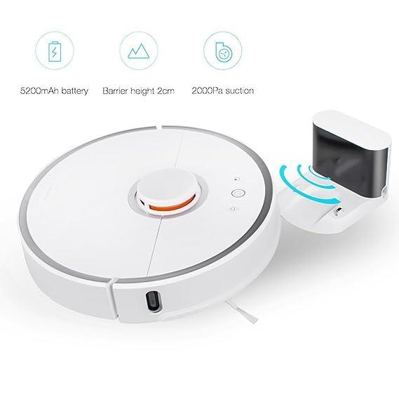 Vinmax Xiaomi Mijia 2 en 1 Smart Robot Aspiradora App Control - Generación Sweep Mop LDS Bumper SLAM 5200 mAh-White: Amazon.es: Hogar