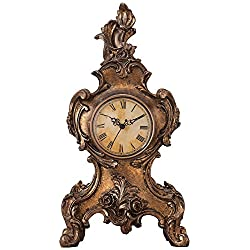 Kensington Hill Taryn Vintage Style 16 1/4 High Table Clock