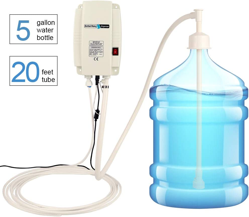 Updated New Bottled Water Pump System with Universal Wall Transformer, US Plug Water Dispensing Pump Compatible Use with Coffee/Tea Machines, Water Dispensers, Refrigerators, Ice Makers