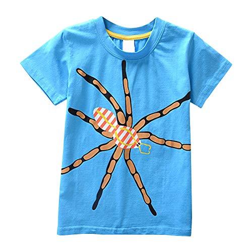 LQZ Summer Cartoon T Shirts for Toddler Kids Boy