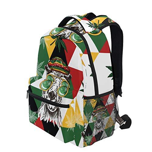 e5a922eb0310 KVMV Seamless Pattern Camels Rastaman Hat Hemp Lightweight School Backpack  Students College Bag Travel Hiking Camping Bags
