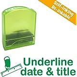 Underline date & title - Self-inking, Reinkable Low Cost Teacher Stamp