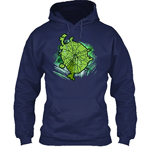 TeeZaa Moscow Cool Tshirt - Moscow Map Perfect T Shirt Design For Men and Womens Hoodie (Mnh Map)