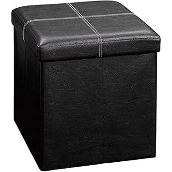 Plegable Organizador Caja de almacenamiento de cubo de piel ...