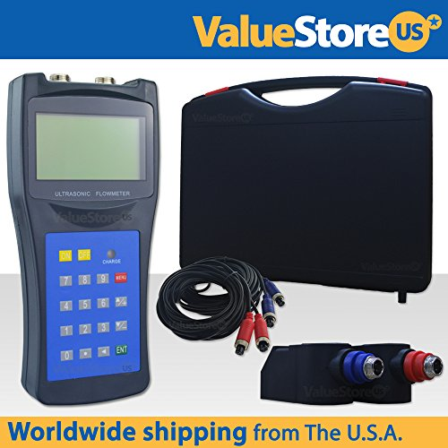 Portable Digital Ultrasonic Flow Meter USF-100 with M Transducers for Pipes from 0.76 to 27 inch (50 to 700 mm) & from -40°F to 320°F (-40°C to 160°C). by ValueStore.us